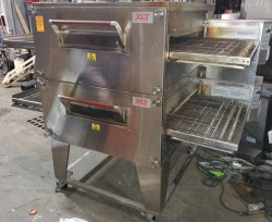 2012 XLT 3240  Double Electric Conveyor Pizza Oven Used, Tested Good
