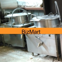 Cleveland 40 Gallon, Direct Steam Tilting Kettle Used, Tested Good