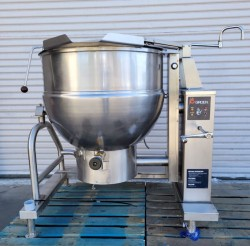 Groen 80 Gallon Gas Steam Jacketed Tilt Kettle Used, Tested Good
