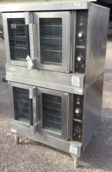 Hobart Double Electric Convection Oven & 9 Racks Used, Tested Good