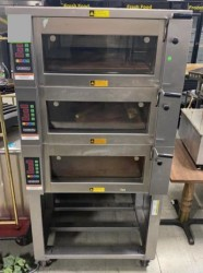 Hobart Baxter Triple Deck Electric Pizza Bread Steam Oven Used, Tested Good