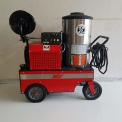 Hotsy 843SS 4GPM @ 2000PSI Hot Pressure Washer & Reel Used, Tested Good