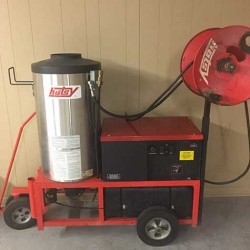 Hotsy 980SS 4GPM @ 2000PSI Hot Pressure Washer & Reel Used, Tested Good