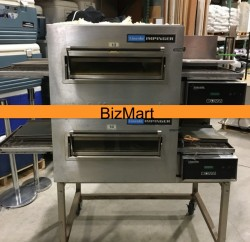 Lincoln Double Electric Pizza Conveyor Oven & Ventless Hood Used, Tested Good