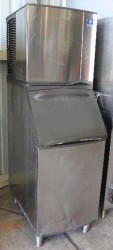 Manitowoc 430lb Dice Air Cooled Stationary Ice Machine & Bin Used, Tested Good