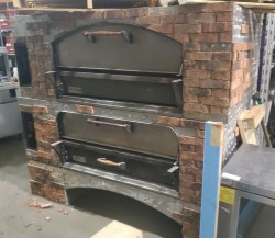 Marsal Brick Lined Gas Double Deck Pizza Oven Used, Tested Good