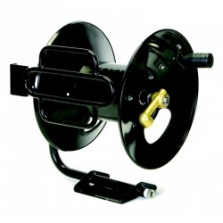 New Legacy 100' Steel Fixed Base High Pressure Hose Reel Never Used, Tested Good