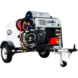 NEW Simpson 4GPM @ 4000PSI Hot Pressure Washer Trailer Never Used, Tested Good