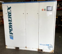 Powerex 50HP Oilless Rotary Screw Air Compressor Used, Tested Good