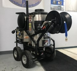 Aaladin 1PH 4GPM @ 3000PSI Hot Pressure Washer W/Reel Used, Tested Good
