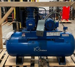 Quincy 10HP Two-Stage Air Compressor w/ Tank & Dryer Used, Tested Good