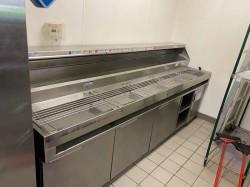 Randell DPM120R Make Line Pizza Prep Table Used, Tested Good