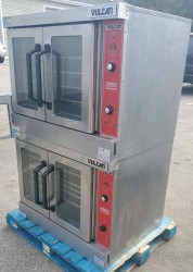 Vulcan VC44GD Stainless Double Gas Convection Oven Used, Tested Good