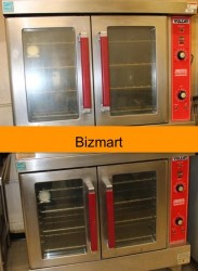 Vulcan VC4GD Stainlesss Double Electic Convection Oven Used, Tested Good