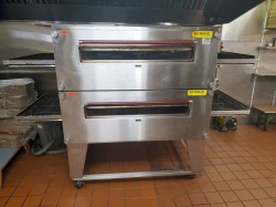 XLT 3255-TS Double Gas Conveyor Pizza Oven Used, Tested Good